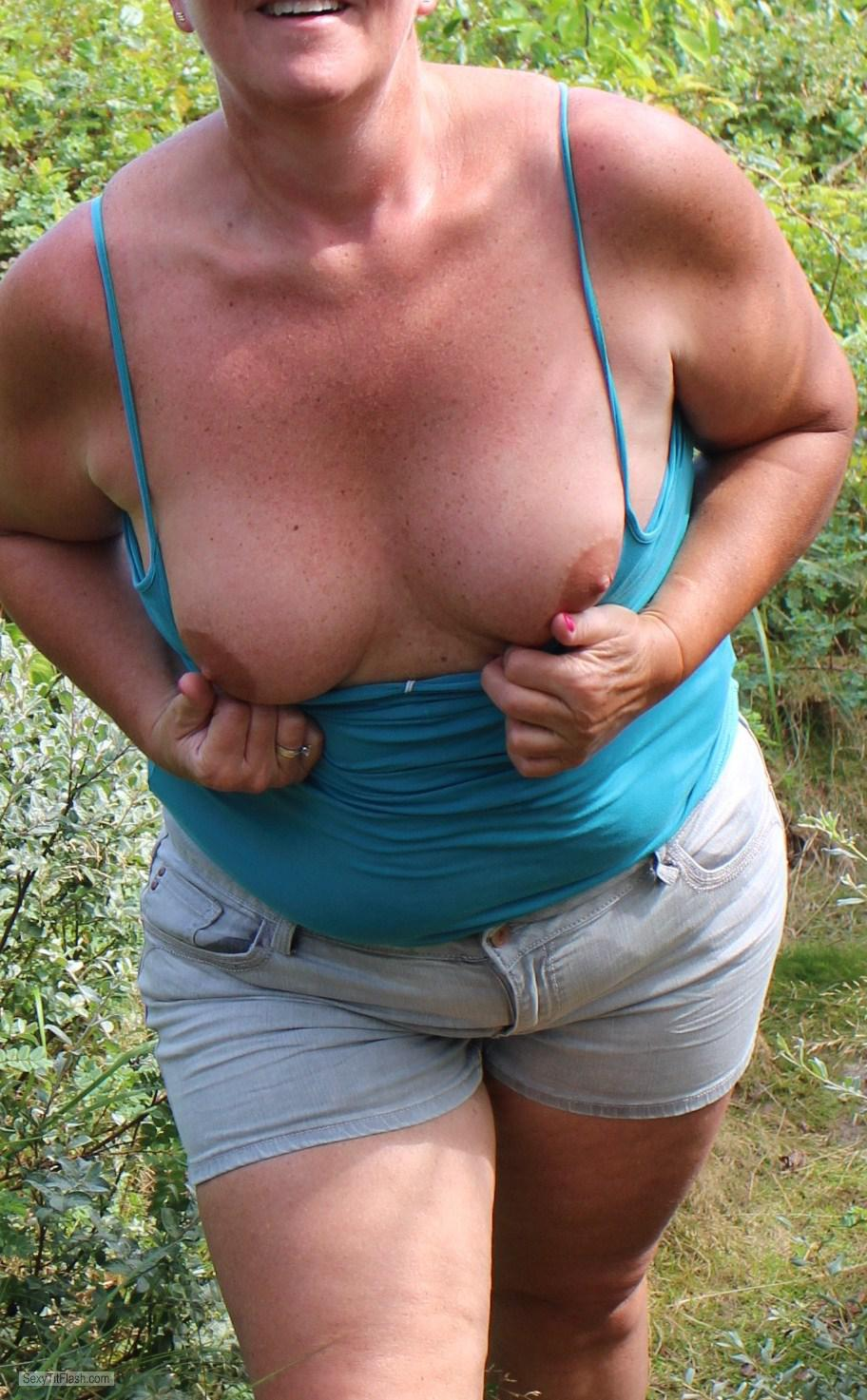 Tit Flash: My Medium Tits - B-women from Belgium